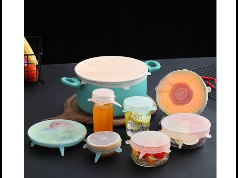 Magic Silicon Food Lids 6 Pcs Set