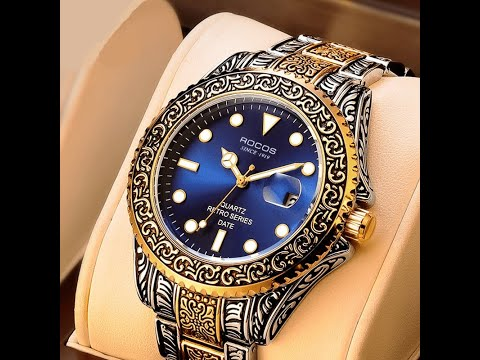 Top Luxury Tungsten Steel Made Waterproof Chronograph Sport and Fashion Watch For Men
