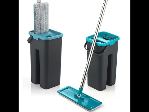 Magic Microfiber Flexible Cleaning Mop With Squeezing Bucket