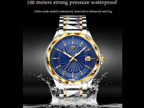 Original Men's Automatic Self Wind Tungsten Steel Waterproof Mechanical Wrist Watch
