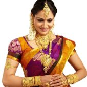 Indian woman wears jewels