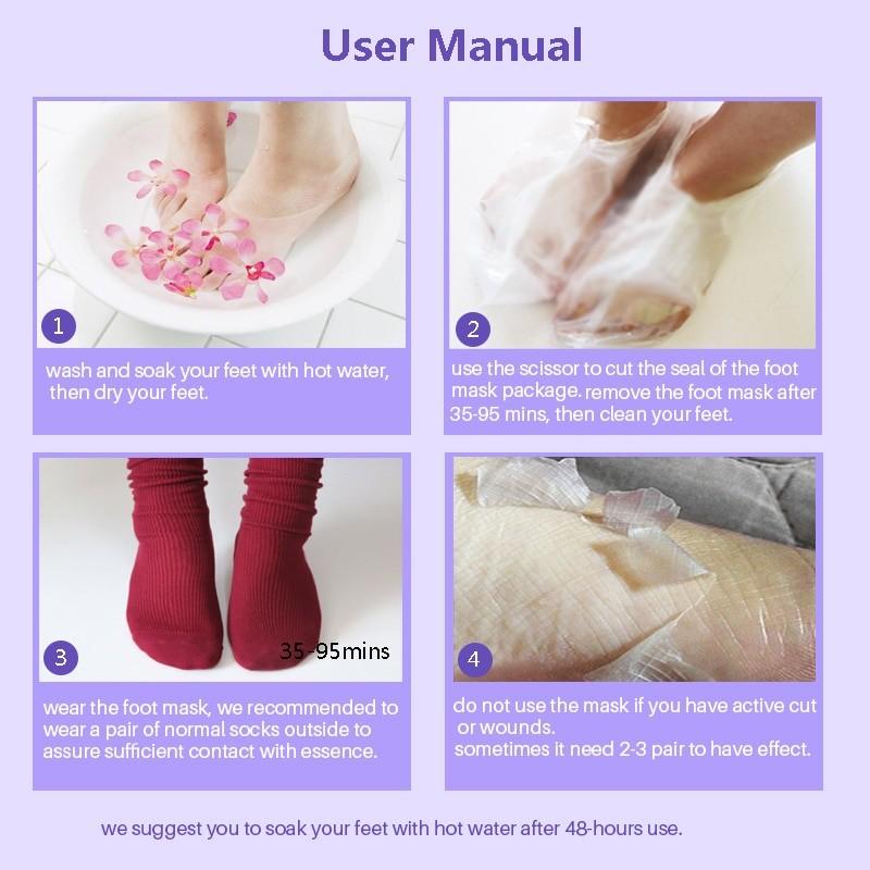Feet Exfoliating Mask Cream 2 pcs Set