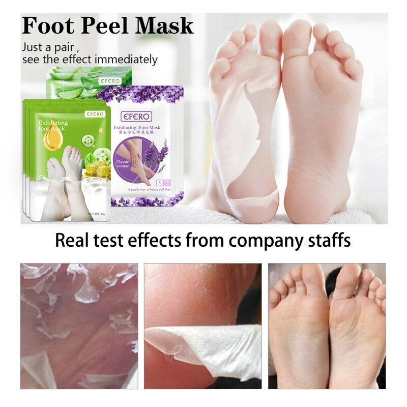 6pcs=3pair Lavender/Aloe Foot Mask Remove Dead Skin Foot Peeling Mask for Legs Exfoliating Socks for Pedicure Anti Crack Heel